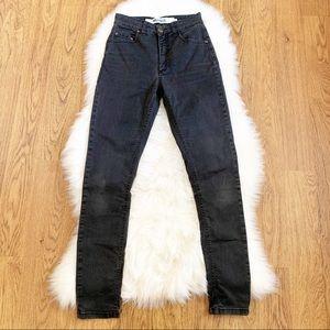 Brandy Melville Black High Rise Skinny Jeans 40